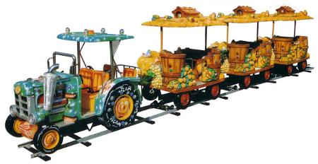 Train Tracteur avec wagon Country